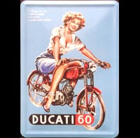 CARTE POSTALE PIN UP DUCATI 60 ITALIE