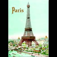 PLAQUE METAL TOUR EIFFEL PARIS SOUVENIR GIFT