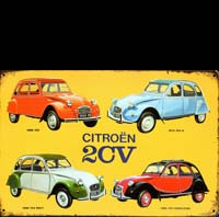 2 CV CHARLESTON COLLECTION DS 21 citroen plaque déco vintage