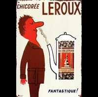 plaque vintage chicoree LEROUX