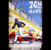 LES 24H DU MANS 1959 plaque metal mercedes benz 500 SL germany
