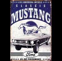 plaque déco ford mustang US america