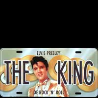 ELVIS PRESLEY PLAQUE VOITURE ROAD SIGN ELVIS PRESLEY Plaque pub métal 30x15 cm ELVIS PRESLEY PLAQUE VOITURE THE KING OF ROCK'N'ROLL