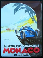 PLAQUE MONACO 1933 CIRCUIT