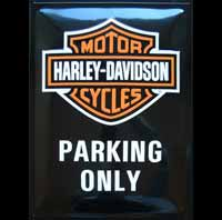 HARLEY DAVIDSON PARKING ONLY PLAQUE