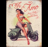 VES PA ITALY PIN UP TI AMO ROMA WE