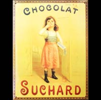 DECO VINTAGE CHOCOLAT SUCHARD FILLETTE PLAQUE PUB