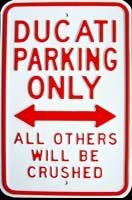 PLAQUE METAL DUCATI PARKING ONLY Plaque publicitaire 30x45 cm