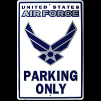 US AIR FORCE PARKING ONLY PARKING SIGN Plaque métal