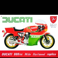 DUCATI 900cc MIKE HAILWOOD REPLICA - Plaque métal 41x30 cm