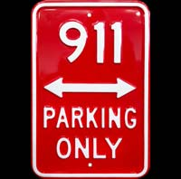 PORSCHE 911 PARKING ONLY - Plaque métal 30x45 cm