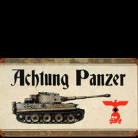 PLAQUE METAL ACHTUNG PANZER
