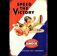 amoco avion plane motor oil kid enfant
