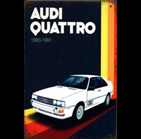 AUDI QUATTRO plaque metal mercedes benz 500 SL germany