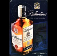 plaque deco BALLANTINE'S BALLANTINES WHISKY WHISKEY