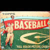 PLAQUE PUBLICITAIRE TOPPS BASEBALL FULL COLOR PICTURE CARDS