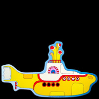 Plaque métal découpée THE BEATLES YELLOW SUBMARINE 17,80 EUROS