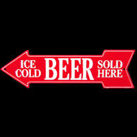 Plaque publicitaire ICE COLD BEER SOLD HERE Plaque métal pub BIERE