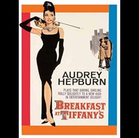 PLAQUE DECO AUDREY HEPBURN BREAKFAST AT TIFFANYS