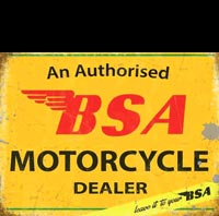 PLAQUE BSA DEALER