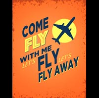 COME FLY WITH ME PLAQUE DECO US SINATRA