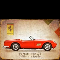 plaque metal FERRARI 250 GT