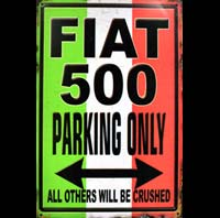 FIAT 500 PARKING ONLY CINQUECENTO 1962