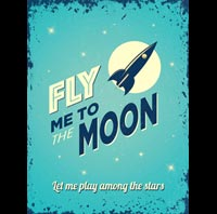 FLY ME TO THE MOON PLAQUE DECO US SINATRA