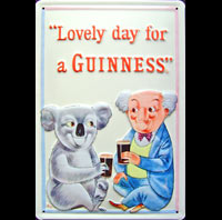 BIERE GUINNESS LOBSTERS BAR PUB  Plaque publicitaire relief métal 20x30 cm