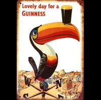 plaque deco GUINNESS TOUCAN BIERE