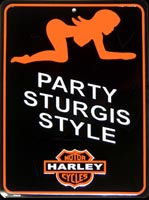 STURGIS HARLEY DAVIDSON HARLEY PARTY STURGIS STYLE Plaque pub métal MOTOR HARLEY CYCLES