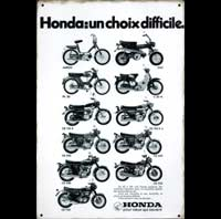 HONDA 500 FOUR 750 FOUR PLAQUE METAL