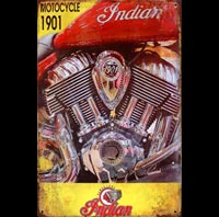 plaque vintage indian motor 1901