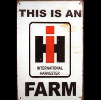 INTERNATIONAL HARVESTER FERME TRACTEUR PLAQUE PUBLICITAIRE USA