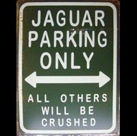 JAGUAR PARKING ONLY - Plaque métal 30x40 cm