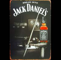 PLAQUE METAL JACK DANIELS BILLARD
