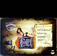 PLAQUE METAL JACK DANIELS PIN UP
