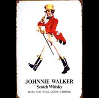 PLAQUE metal johnny walker whisky