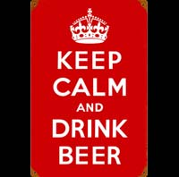 KEEP CALM AND DRINK BEER PLAQUE PAS CHER