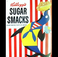 plaque metal KELLOGS SUGAR SMACKS