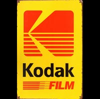 KODAK FILM PELLICULE PHOTO  - Plaque métal 20x30cm