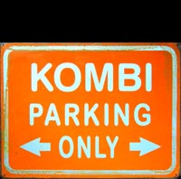 KOMBI PARKING ONLY - Plaque métal vintage 40x30 cm