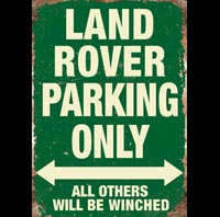LAND ROVER, RANGE ROVER PARKING ONLY