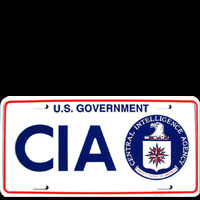 PLAQUE AMERICAINE US CIA Plaque publicitaire US GOVERNMENT CIA deco mythique