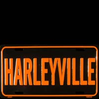 LP HARLEYVILLE MOTO PLAQUE IMMATRICULATION