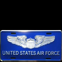 Plaque publicitaire UNITED STATES AIR FORCE LICENSE PLATE USA ARMEE DE L'AIR PLAQUE PUB