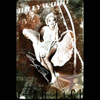 MARILYN HOLLYWOOD Plaque publicitaire relief métal 20x30 cm - Plaque métal