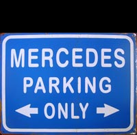MERCEDES plaque métal vintage PORSCHE PARKING ONLY