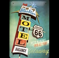 ROUTE 66 PLAQUE METAL ROUTE 66 PIN UP PINUP