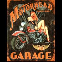 PLAQUE AMERICAINE DECO PIN UP MOTORHEAD GARAGE